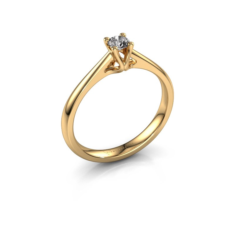 Bague de fiançailles Janna 1 585 or jaune diamant synthétique 0.15 crt