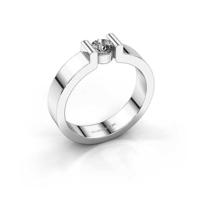 Verlovingsring Isabel 1 925 zilver diamant 0.25 crt