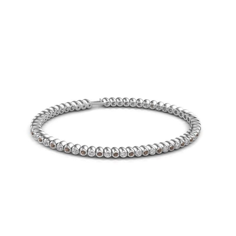 Tennisarmband Trix 585 witgoud rookkwarts 2 mm