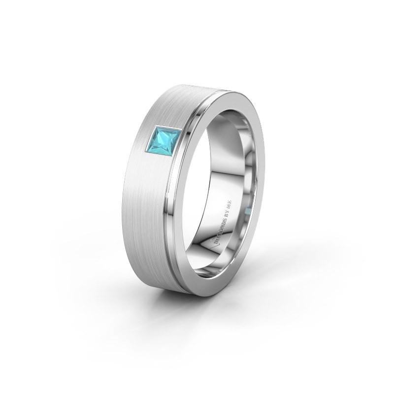 Ehering WH0550L16CMP 925 Silber Blau Topas ±6x2.2 mm