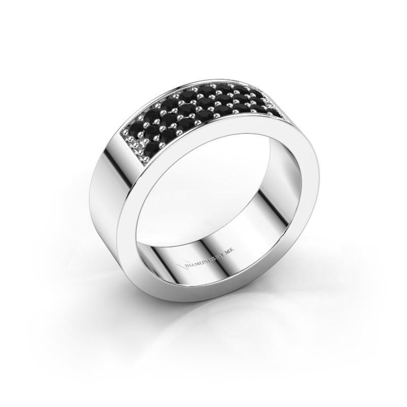 Ring Lindsey 5 585 witgoud zwarte diamant 0.552 crt