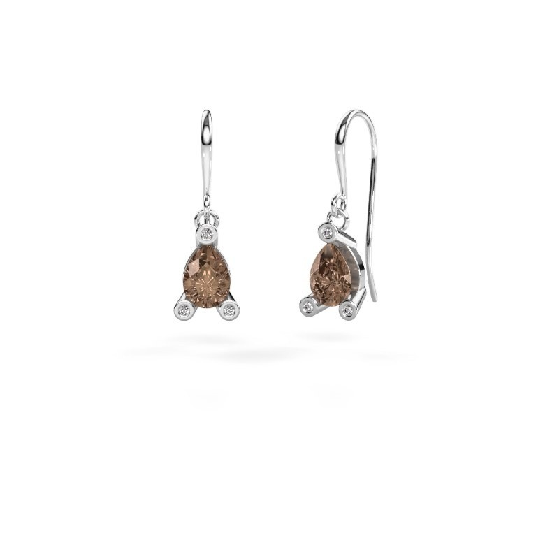 Drop earrings Bunny 1 375 white gold brown diamond 1.345 crt