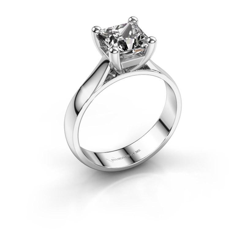 Verlobungsring Sam Square 585 Weißgold Diamant 1.00 crt