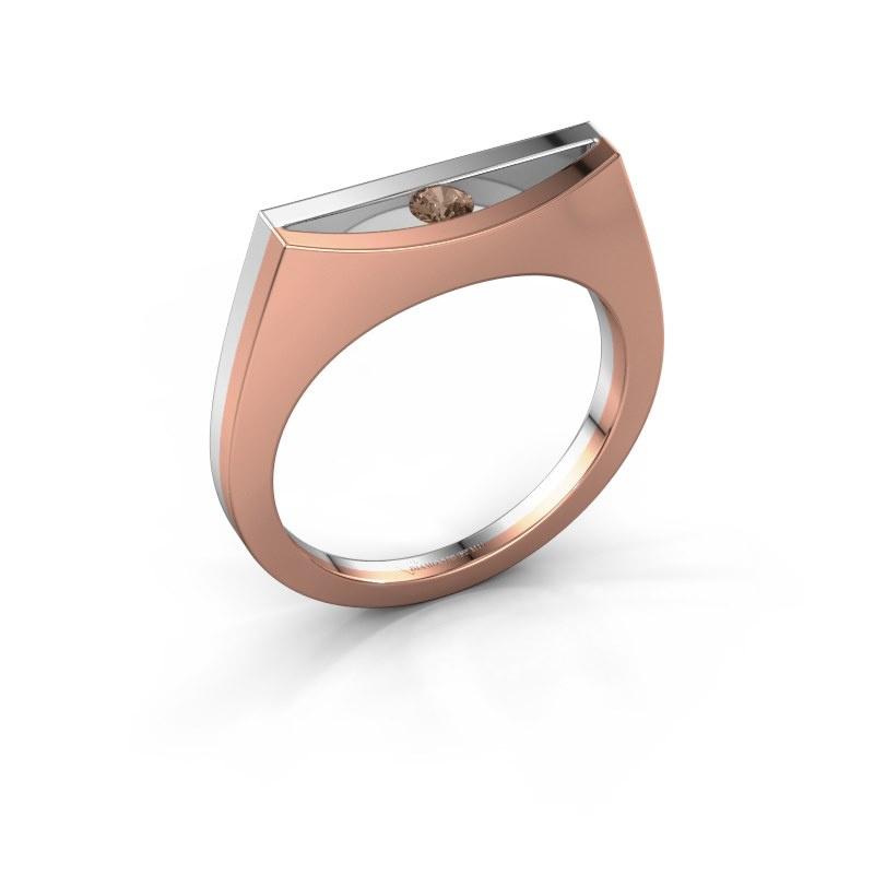 Ring Milou 585 rose gold brown diamond 0.10 crt