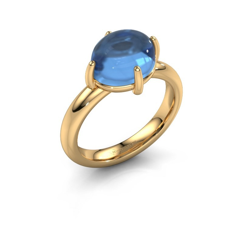 Ring Melodee 585 gold blue topaz 10x8 mm