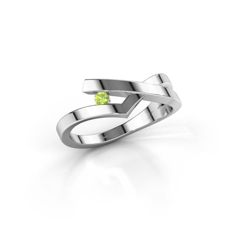 Ring Pamella 585 white gold peridot 2.2 mm
