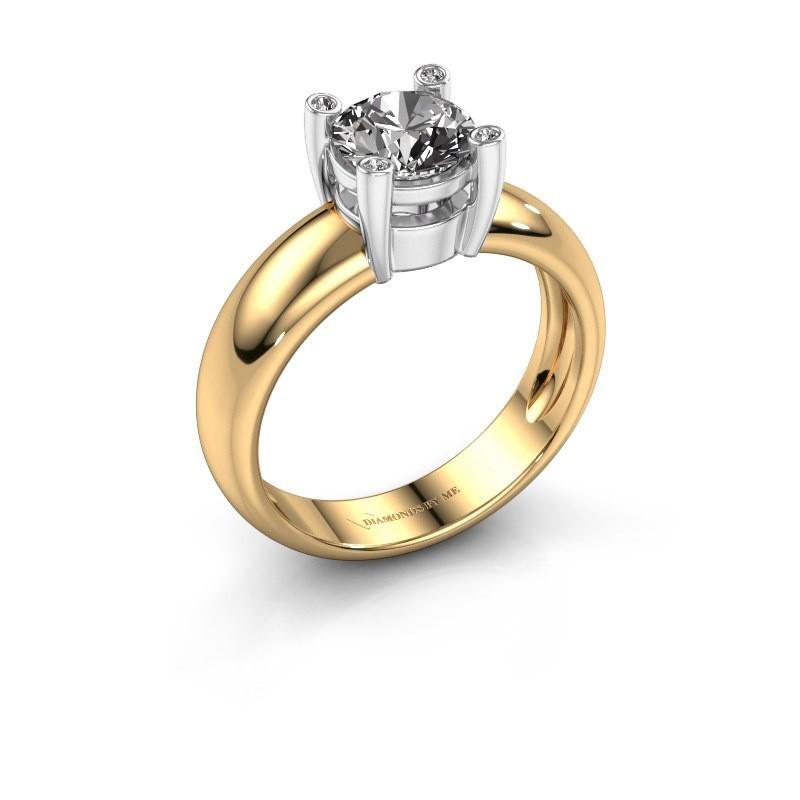 Ring Fleur 585 goud diamant 1.02 crt