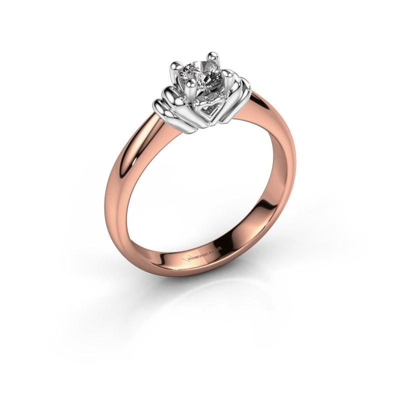 Verlovingsring Esmeralde 585 rosé goud diamant 0.30 crt