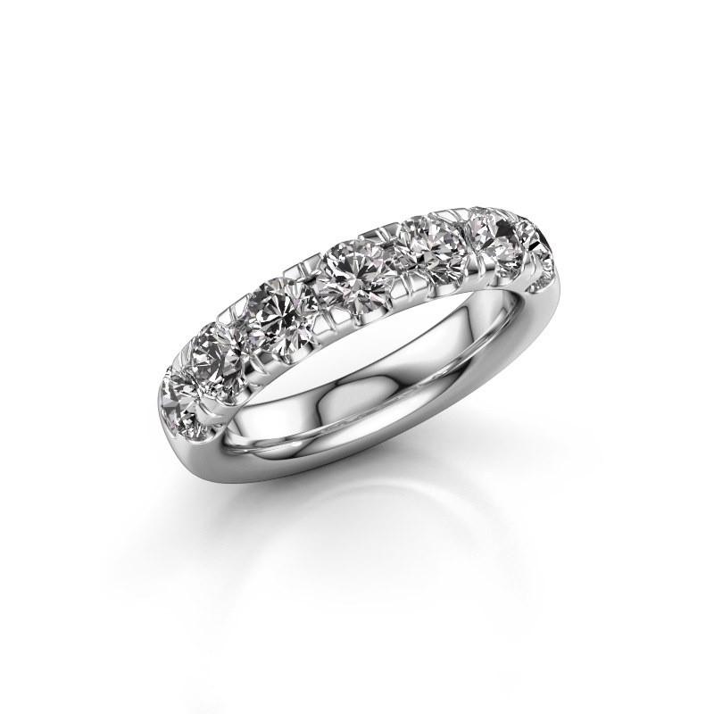 Vorsteckring Jackie Half 950 Platin Diamant 1.75 crt