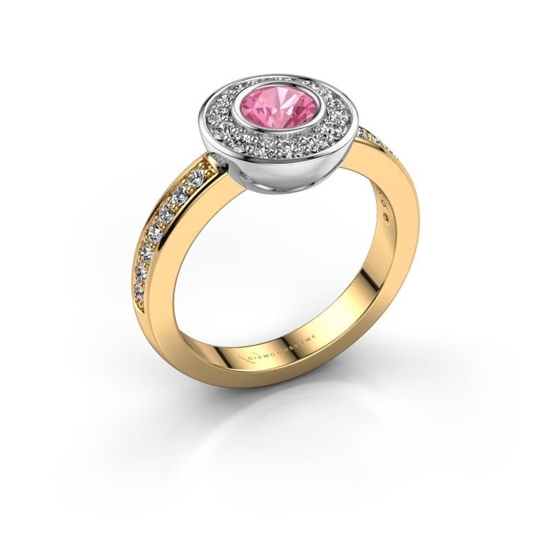 Ring Ivy 585 Gold Pink Saphir 5 mm