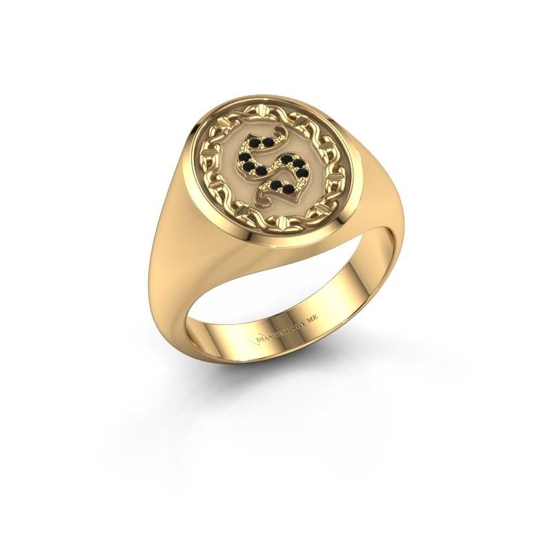 Men's ring Ruan 585 gold black diamond 0.06 crt