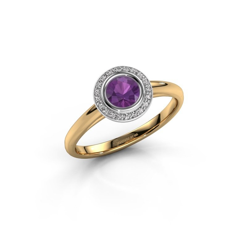 Promise ring Noud 1 RND 585 gold amethyst 4.7 mm