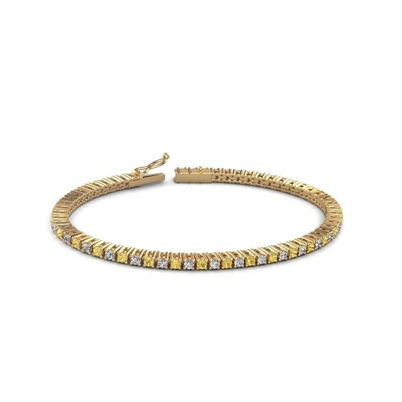 Tennis bracelet Karisma 375 gold yellow sapphire 2.4 mm