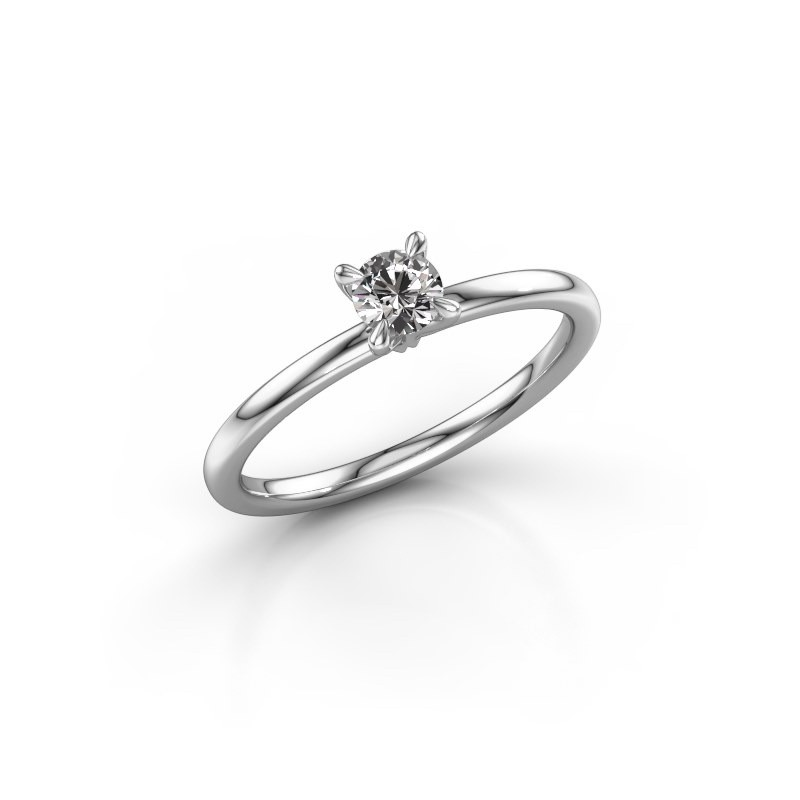 Verlovingsring Crystal RND 1 925 zilver diamant 0.25 crt