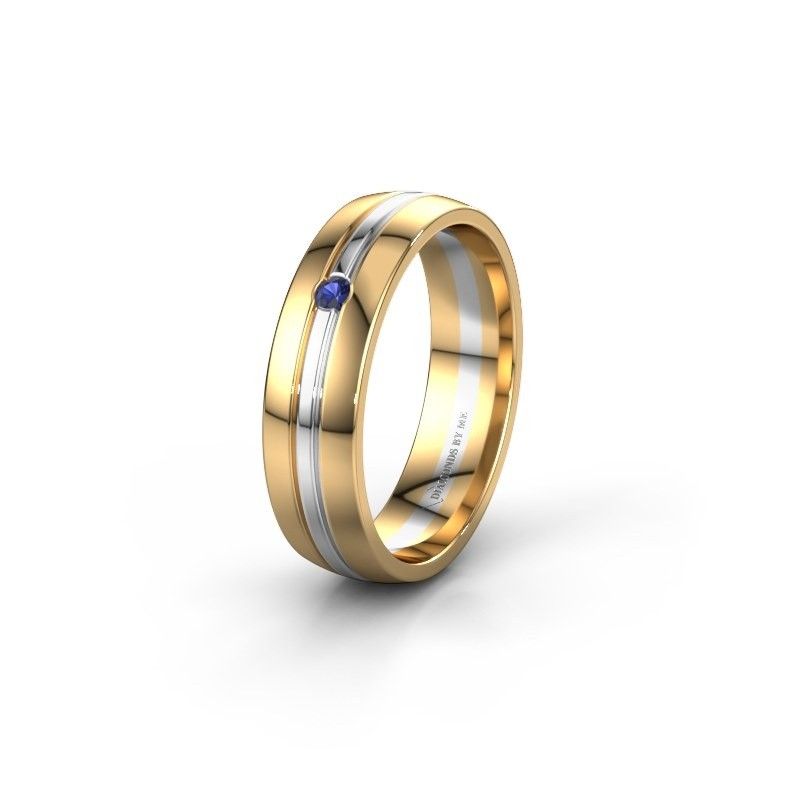 Wedding ring WH0420L25X 585 gold sapphire ±0.20x0.06 in