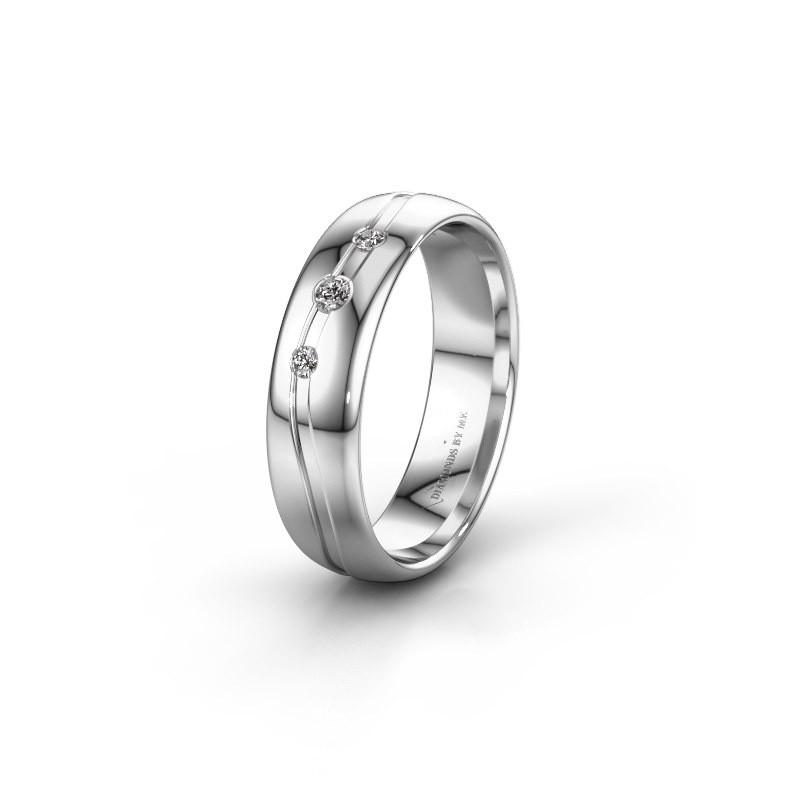 Friendship ring WH0907L35X 585 white gold zirconia ±5x1.4 mm
