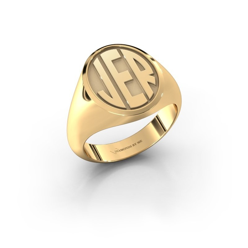 Monogram ring Paul 585 goud