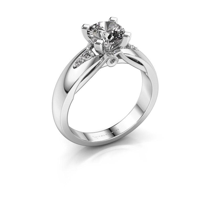 Engagement ring Ize 585 white gold diamond 1.08 crt