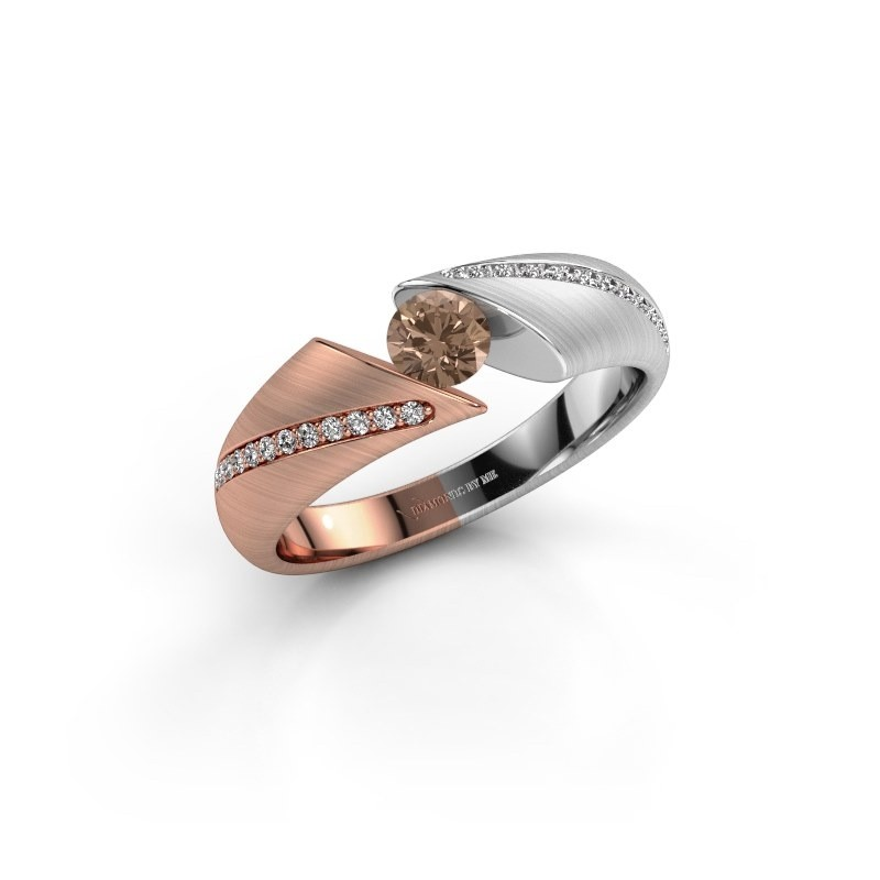 Verlobungsring Hojalien 2 585 Roségold Braun Diamant 0.42 crt