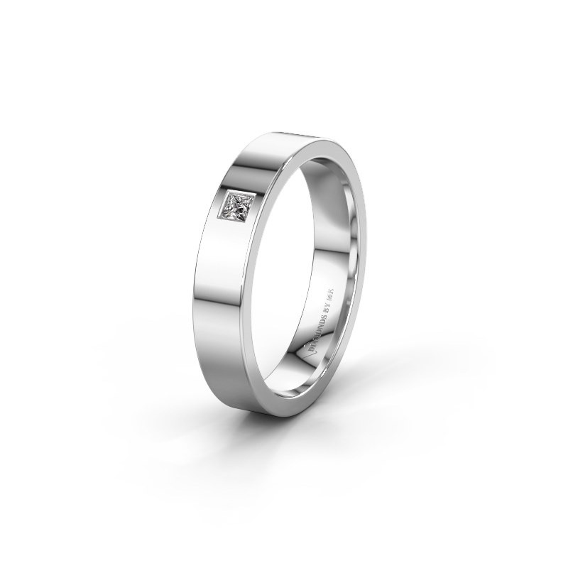 Trouwring WH0101L14APSQ 950 platina diamant ±4x1.7 mm