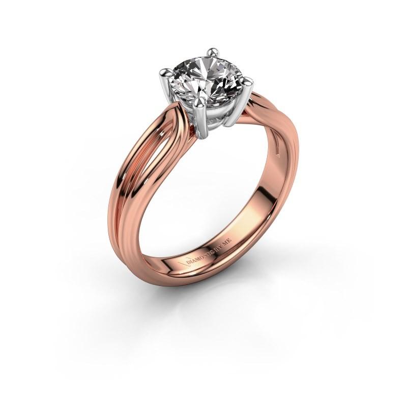 Verlovingsring Antonia 1 585 rosé goud diamant 1.00 crt