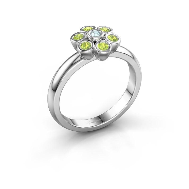 Ring Aaliyah 925 silver aquamarine 2 mm