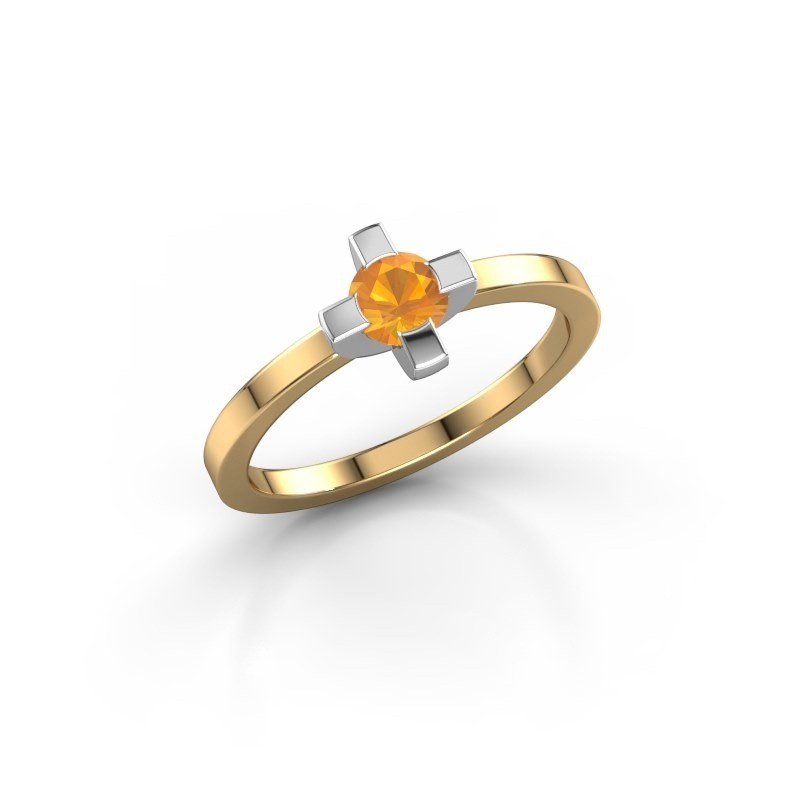 Ring Therese 585 goud citrien 4.2 mm