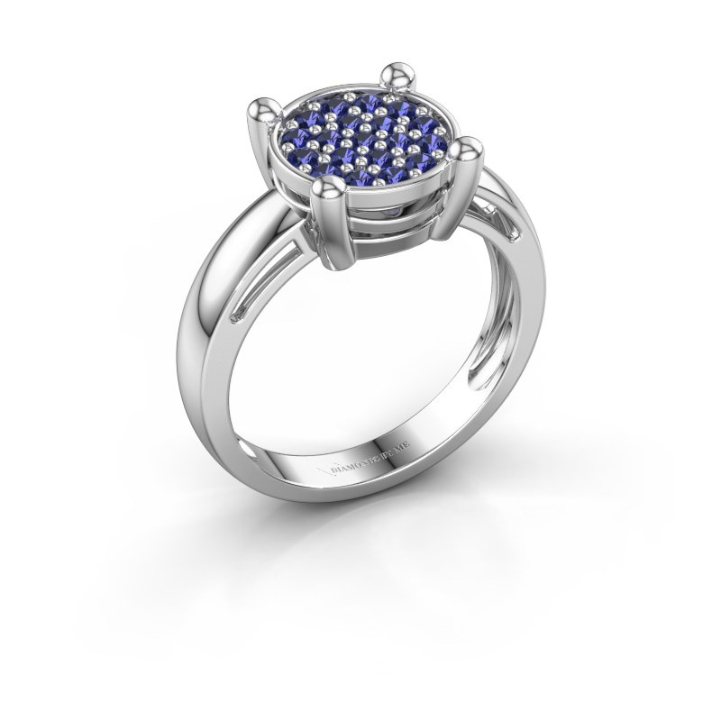 Ring Dina 585 white gold sapphire 1.6 mm