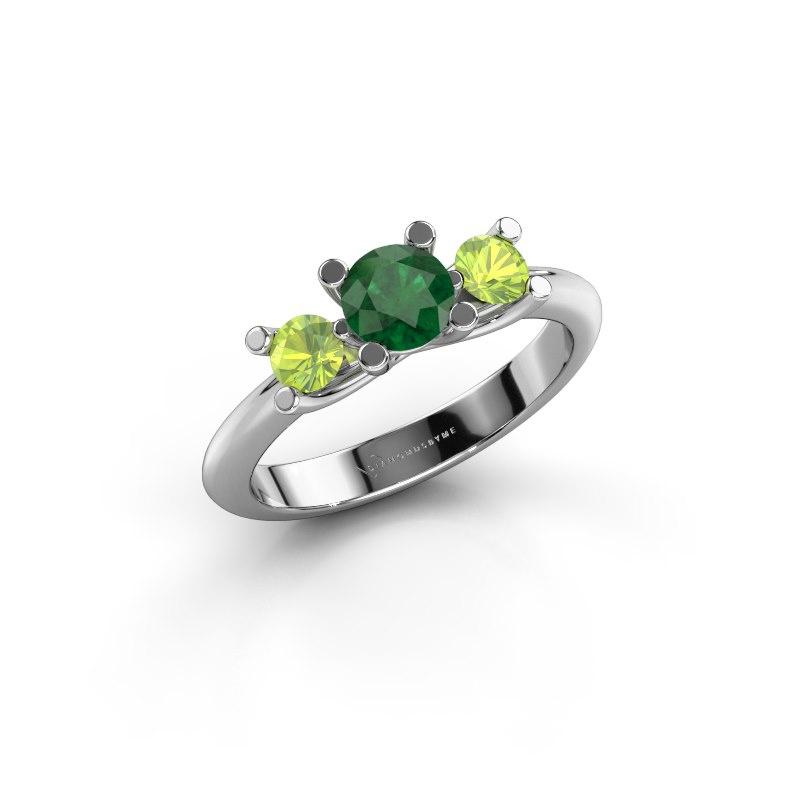 Ring Mirthe 585 Weißgold Smaragd 5 mm