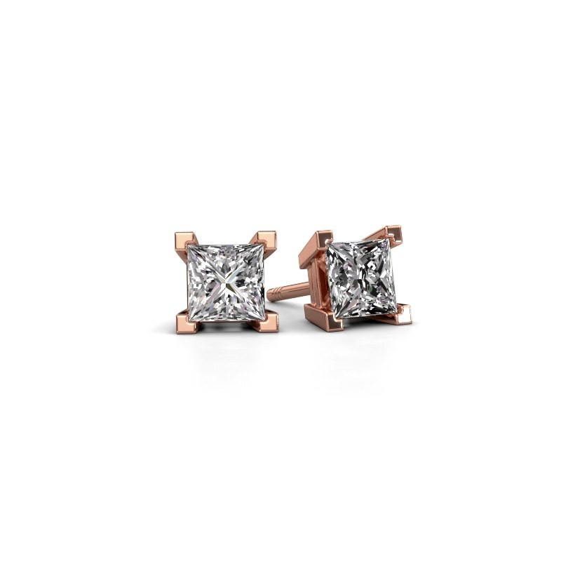 Ohrsteckers Ariane 375 Roségold Lab-grown Diamant 1.56 crt