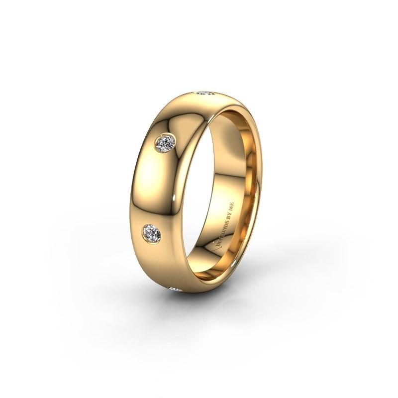 Wedding ring WH0105L36BP 375 gold zirconia ±6x2 mm