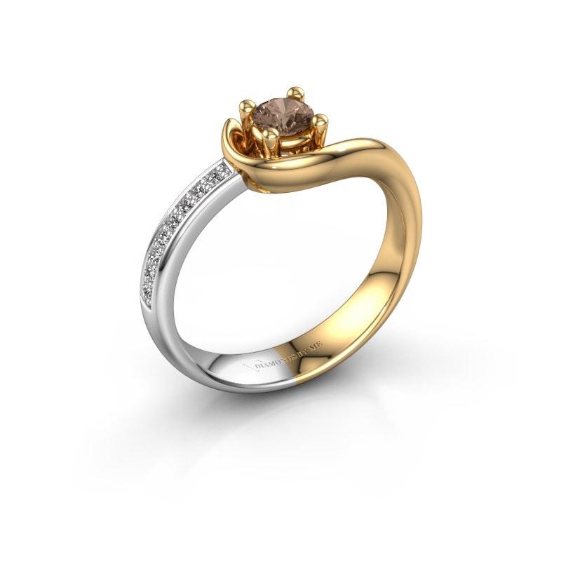 Ring Ceylin 585 goud bruine diamant 0.31 crt