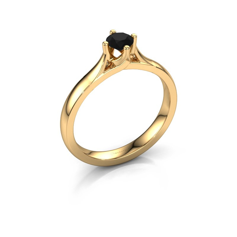 Verlovingsring Eva 585 goud zwarte diamant 0.36 crt
