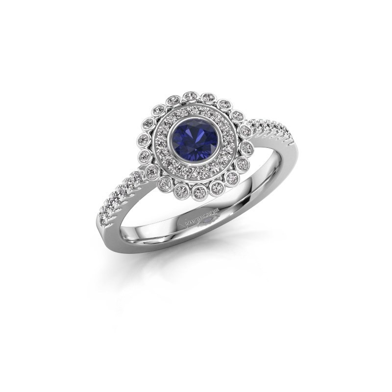 Engagement ring Shanelle 585 white gold sapphire 4 mm