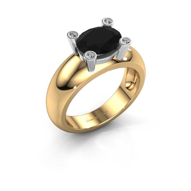 Ring Tamara OVL 585 goud zwarte diamant 2.16 crt
