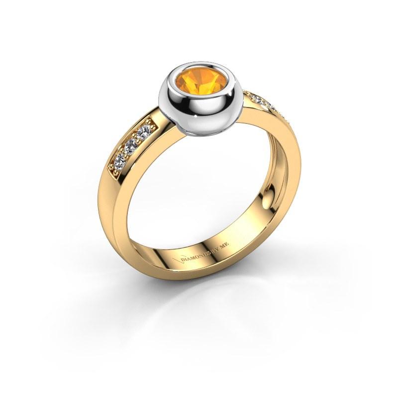 Ring Charlotte Round 585 goud citrien 4.7 mm