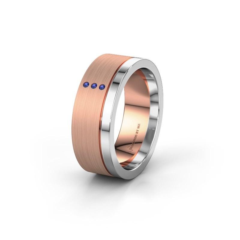 Trouwring WH0325L17APM 585 rosé goud saffier ±7x1.7 mm