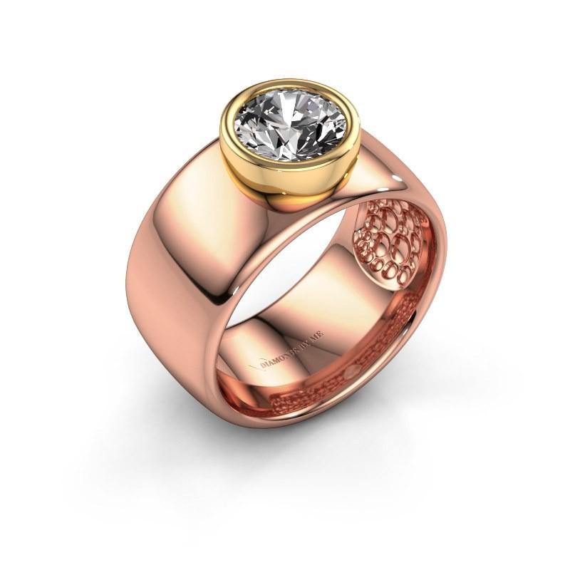 Ring Klarinda 585 rosé goud diamant 1.30 crt