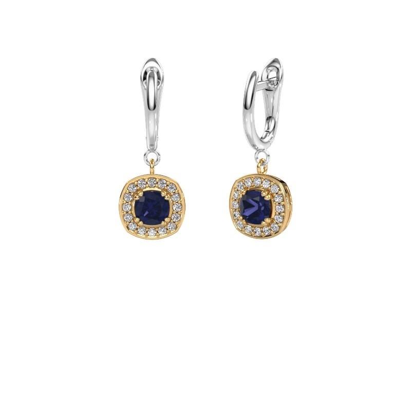 Drop earrings Marlotte 1 585 gold sapphire 5 mm