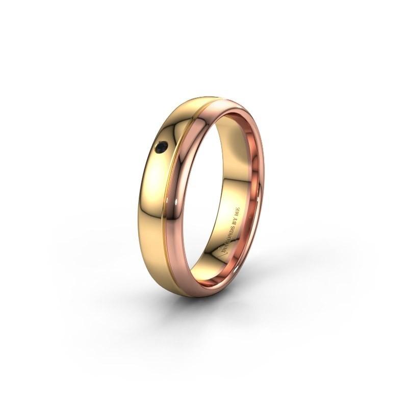Ehering WH0301L35AP 585 Gold Schwarz Diamant ±5x1.7 mm