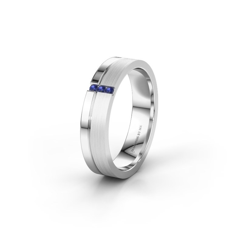 Wedding ring WH0157L14XPM 950 platinum sapphire ±0.18x0.05 in