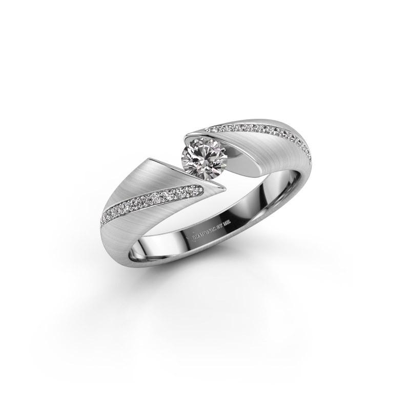 Ring Hojalien 2 585 witgoud diamant 0.37 crt