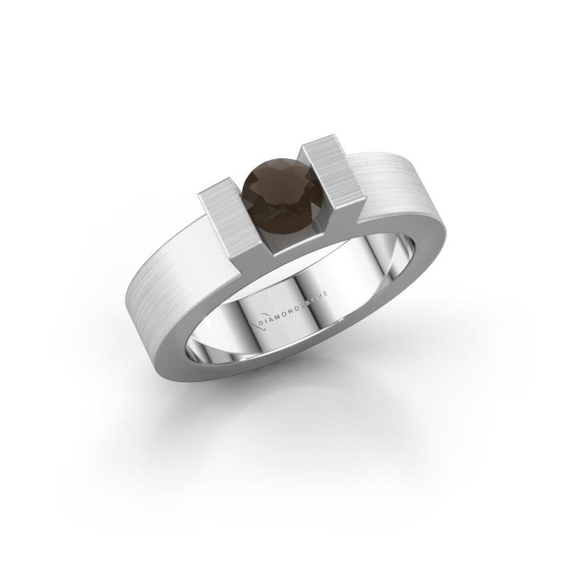 Ring Leena 1 925 zilver rookkwarts 5 mm