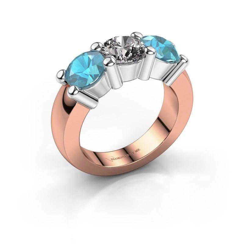 Verlobungsring Yasmin 3 585 Roségold Diamant 1.00 crt