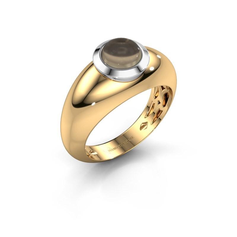 Ring Sharika 585 gold smokey quartz 6 mm