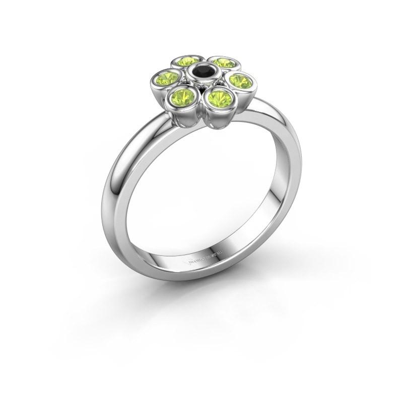 Ring Aaliyah 925 silver black diamond 0.036 crt