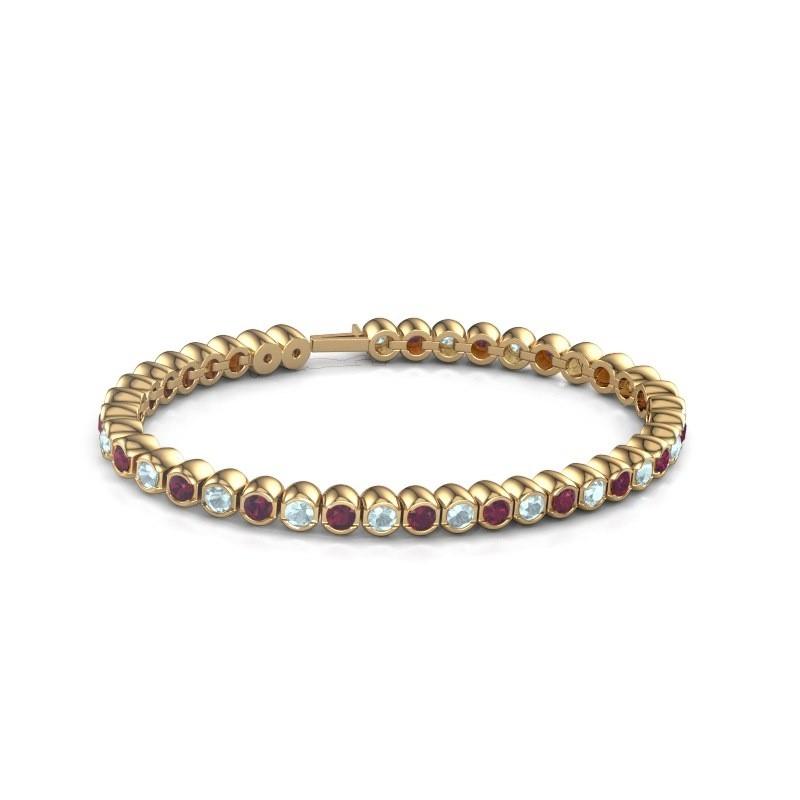 Tennisarmband Mellisa 375 goud rhodoliet 3.5 mm