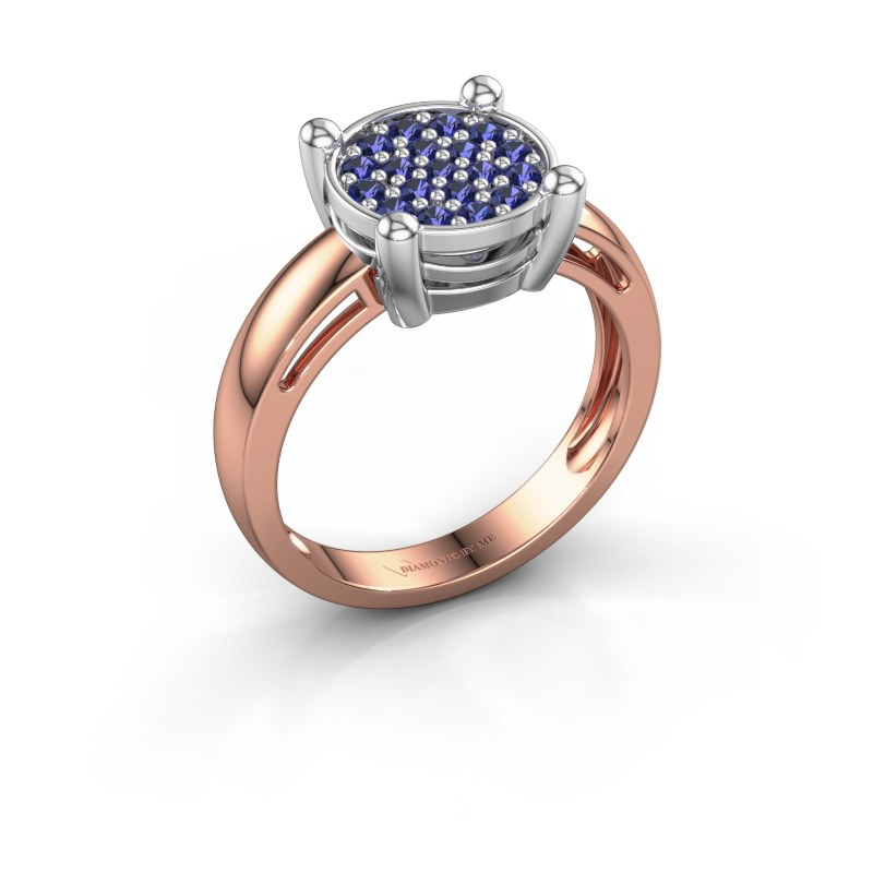 Ring Dina 585 rosé goud saffier 1.6 mm