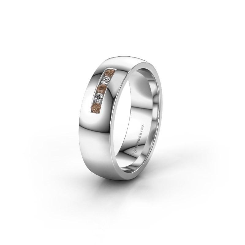Ehering WH0107L26BP 950 Platin Braun Diamant ±6x2 mm
