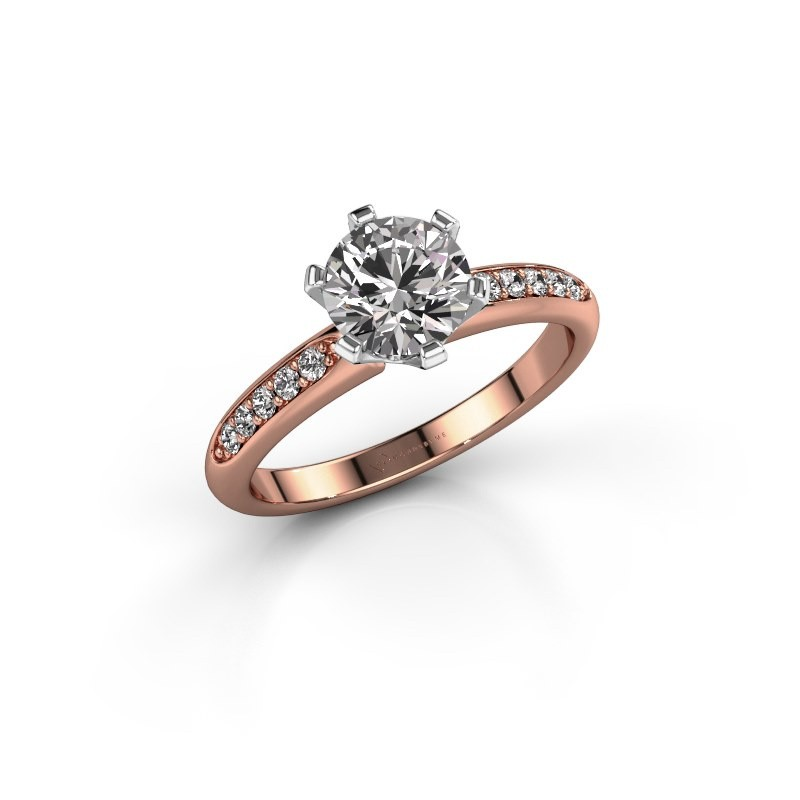 Verlobungsring{ucf Tiffy 2 585 Roségold Diamant 1.00 crt